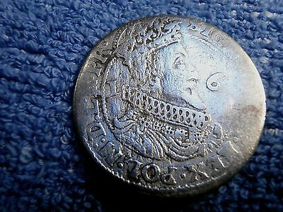 Danzig (Poland):  Silver Ort 1624/35 Nice For A Hand Hammered Coin!!
