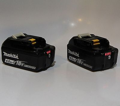 2 pc Makita BL1840B Batteries 18V LXT Lithium-Ion 4.0Ah Rechargeable BatteryLED