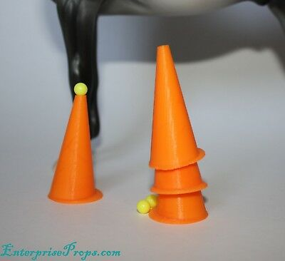 Driving Cone Set 4 ct ~ 1:9 Scale for Traditional Breyers & Model Horses. LSQ