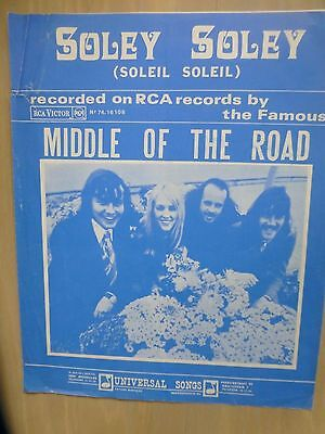 Middle Of The Road - Soley Soley / Dutch 4-Page Musicsheet/ A4/  1971