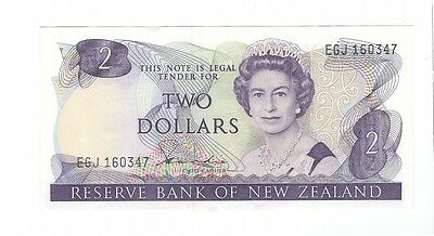 New Zealand -  Two (2) Dollars, 1981-85