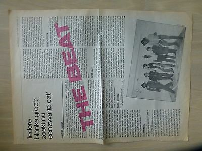 The Beat (U.k. Ska/reggae) Full/bigsize Page Dutch Musicmag Oor 1980