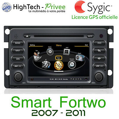 "Autoradio 2-din GPS Europa Lettore DVD touch screen 7"" Bluetooth Smart Fortwo"