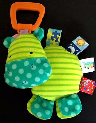 Taggies Green Hippo Clip Hang Toy