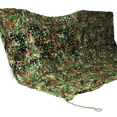 3Mx3M Woodland Camouflage Netting Camping Military Camo Hunting Cover Mesh Net