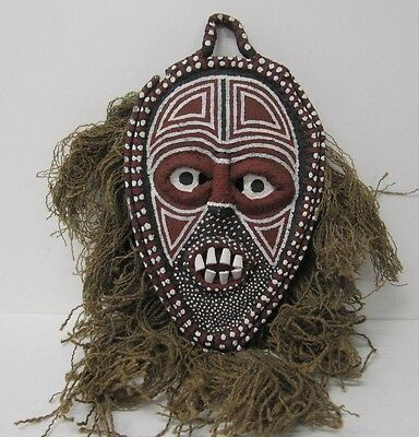 African Tribal Mask Wall   antique vintage plaque  art painted