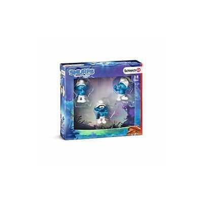 3 PUFFI movie set 1 SMURFS the lost village SCHLEICH tontolone 20800 forzuto ETA