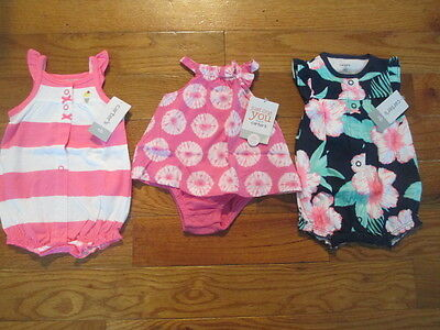 3 piece LOT of Baby Girl Spring/Summer clothes size Newborn NWT