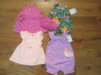 4 piece LOT of Baby Girl Spring/Summer clothes size 3 months NWT
