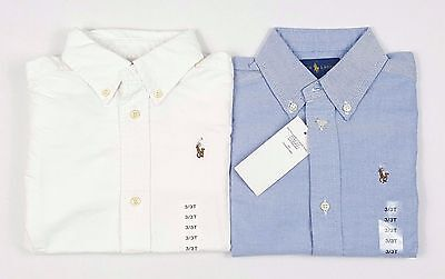 Polo Ralph Lauren Boys Kids Oxford Shirt Long Sleeve - 2T 3T 4T Blue White