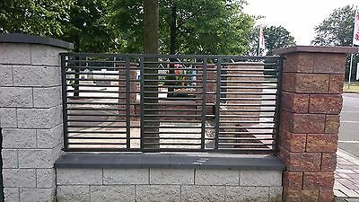 Modern Wrought Iron Railings Fence Panel Metal Balustrade powder coated No 11