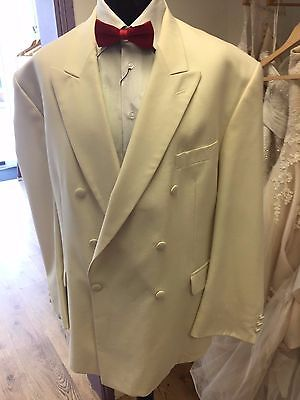 Brand New Ivory Double Breasted Torre Tuxedo  Ideal  For Cruises