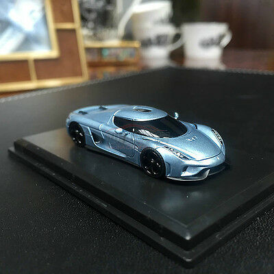 New 1/87 Frontiart Koenigsegg Regera Resin car model Horizon blue with show case