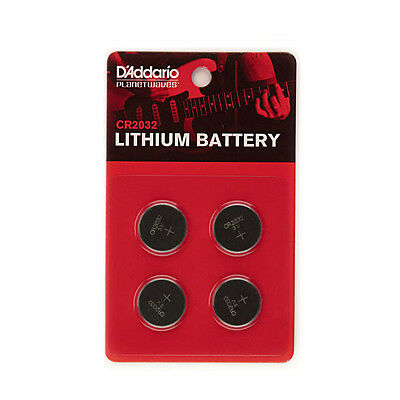 D'addario Planet Waves Pw-Cr2032-04 Lithium Battery 4 Pack Cr2032