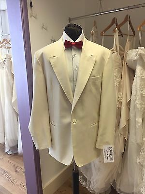 Ivory Single Breasted Tuxedo Jacket