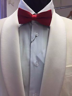 Ivory Single Breasted  Roll Collar Tuxedo Jacket