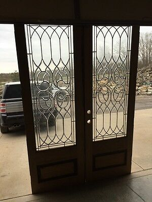 D 15 Matched Pair Beveled Glass Entrance Double Door
