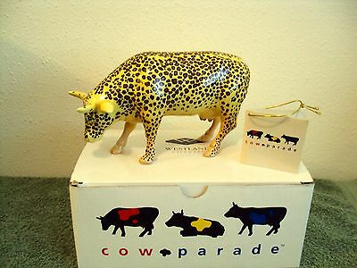 "Westland 2000 Cow Parade Ceramic ""Leopard Cow"" Figurine No. 9169 Retired CLEAN!"