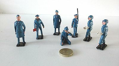 7 Lead Figures From Royal Air Force Display Set = Crescent ??