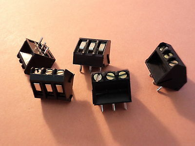3 WAY PCB TERMINAL BLOCK 5mm 45 DEG  PITCH QTY  = 5