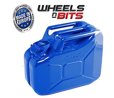 10L Litre RED JERRY MILITARY CAN FUEL PETROL DIESEL RED BLUE GREEN WITH SPOUT