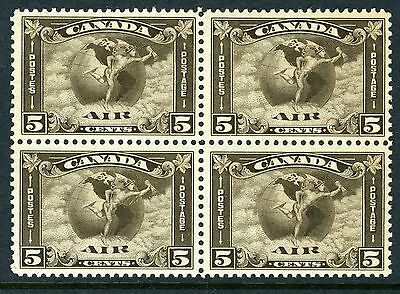 CANADA Scott C2 - MNH - BLK of 4 - 5¢ Air Mail (.004)