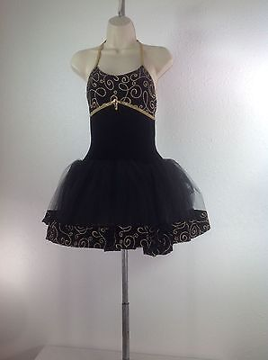 Ballet Black Adult Medium Curtain Call Competition Solo Ma Dance Costume
