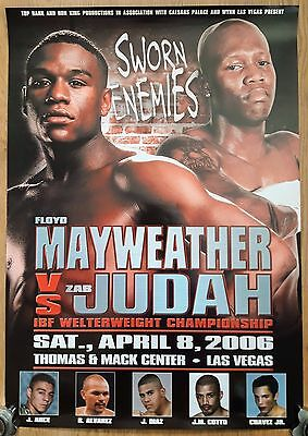 2006 FLOYD MAYWEATHER v ZAB JUDAH scarce on-site boxing poster May wins on PTS