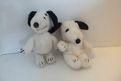 "VTG Snoopy & Belle Plush UNITED SYNDICATES Butterfly Originals 7"" Bean Bag lot"