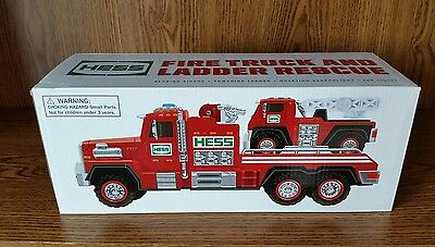 New Hess Fire Truck and Ladder Rescue 2015 NIB