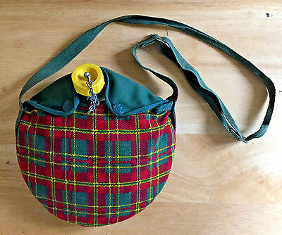 Vintage Girl Scout Aluminum Canteen with Cloth Pouch 1970s