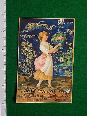 1870s-80s Fleming's Crudoform Liniment Ivory Polish Victorian Trade Card F30