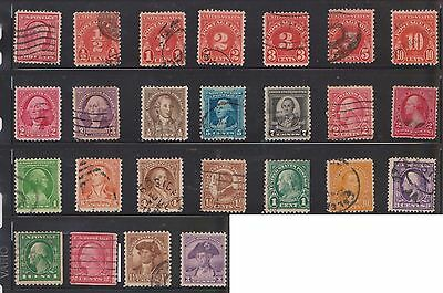 (U20-1) 1908-70 USA mix of 106stamps values to $1.00 (A)