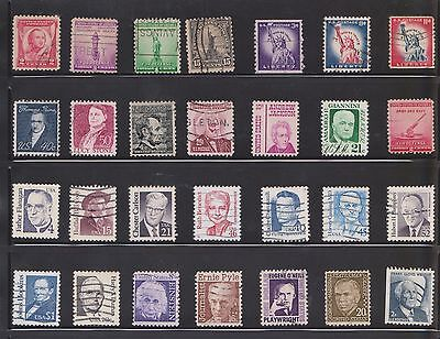 (U20-2) 1920-80 USA mix of 95stamps value to 50c (B)