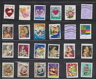 (U20-7) 1980-90 USA mix of 46stamps value to 60c (G)