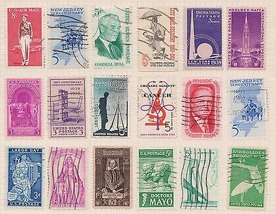 (Q20-72) 1939-60 USA mix of 30stamps value to 8c (M)
