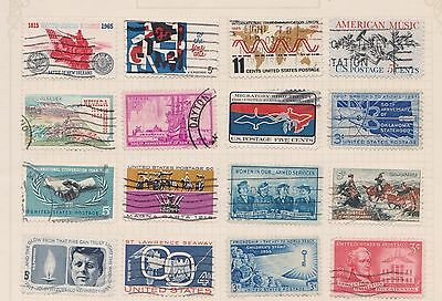 (Q20-67) 1950-60 USA mix of 28stamps value to 11c (H)