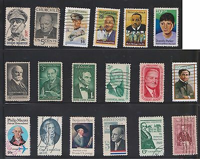(U20-10) 1960-80 USA mix of 60stamps value to 29c (J)