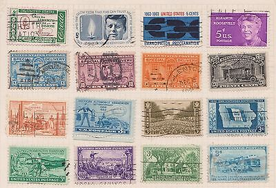 (Q20-68) 1922-60s USA mix of 28stamps value to 20c (I)