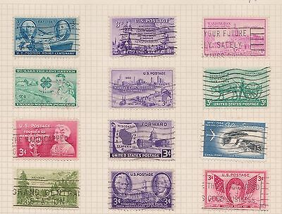 (Q20-69) 1940-60s USA mix of 21stamps value to 15c (J)