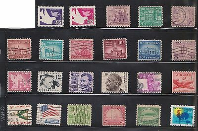 (U20-19) 1920-90 USA mix of 69stamps value to $1 (S)