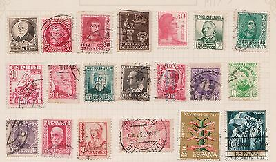 (Q20-46) 1889-1950 Spain mix of 36stamps value to 25c (C) $6.00