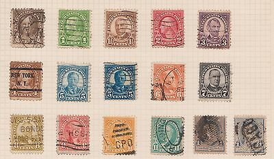 (Q20-61) 1882-1930 USA mix of 35stamps value to 12c (B)
