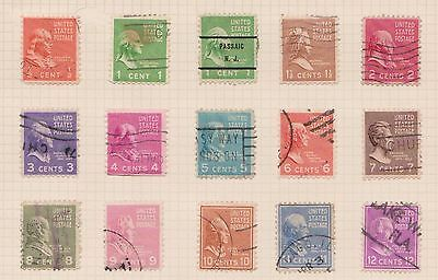 (Q20-60) 1938 USA mix of 24stamps value to 50c (A)