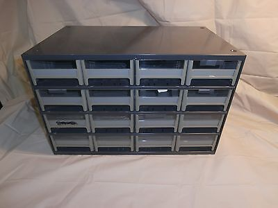 Used Akro Mils H.Duty Small Parts Storage Cabinet 16 Drawers