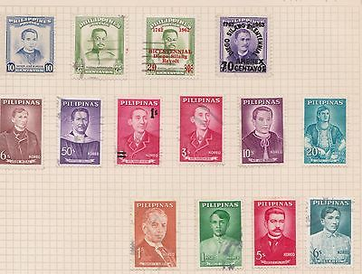 (Q20-5) 1937-60 Philippines mix of 24stamps inc O/P'S