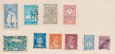(Q20-56) 1940-50s  Turkey mix of 16stamps value to 100K (A)