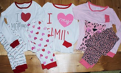LOT - Girls 3 SETS size 4T Pj's Pajamas Long Sleeve by Children's Place