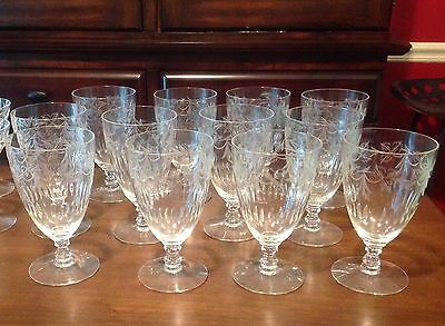 vintage crystal iced tea glasses set of 12