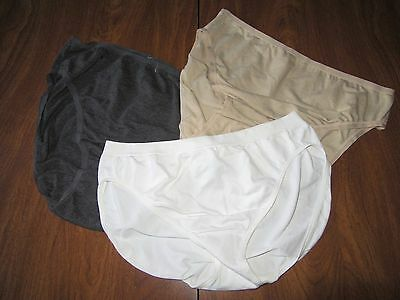 (3) Womens Small Mimi Maternity White, Grey & Tan Underwear Ships Free! NWOT
